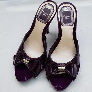 Christian Dior Purple Patent Slides Sz 35 US 5